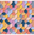 multicolor flat 3d geometrical background with vector image vector image