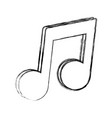 music note symbol vector image vector image