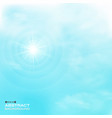 nature of clouds set on blue sky pattern backgroud vector image vector image
