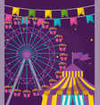 panoramic wheel of amusement park vector image vector image