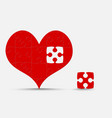 pieces puzzle heart jigsaw valentine day love vector image vector image