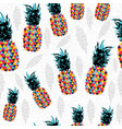 pineapple summer color pattern background vector image vector image
