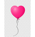 pink realistic heart shaped helium balloon on vector image