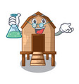 professor chiken coop isolated on a mascot vector image vector image