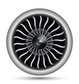 realistic 3d turbo-jet engine of airplane vector image vector image