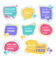 refer friend badges abstract graphic geometrical vector image