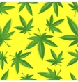 Seamless marijuana cannabis pattern vector image