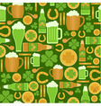 Seamless pattern of Saint Patricks Day objects vector image