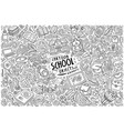 set of back to school items objects and vector image