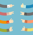 Set of flat hands design vector image
