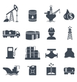 set oil and gas grey icons petroleum industry vector image