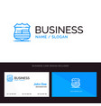 shield sign usa security blue business logo and vector image vector image