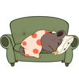Sleeping mouse cartoon vector image vector image