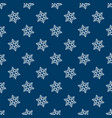 snowflake seamless pattern vector image