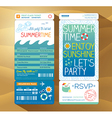 Summer holiday party boarding pass background