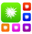 terrible explosion set color collection vector image vector image