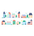 town or city houses set vector image