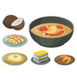 traditional national thai food thailand asian vector image
