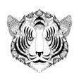 tribal tiger head icon vector image