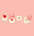 valentine greeting cards set vector image vector image