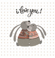valentines day or wedding card i love you vector image vector image