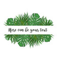 watercolor a banner with monstera vector image