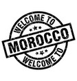 welcome to morocco black stamp vector image vector image