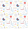 white memphis seamless pattern vector image vector image