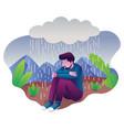woman in depression vector image vector image