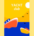 yacht club sport poster concept design with retro vector image