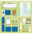 Bathroom equipment icons vector image