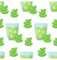 aloe vera drink seamless pattern vector image