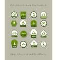Ecology labels set for your design vector image