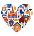 Russia travel heart set vector image