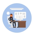 Business office Businessman at work Workplace vector image