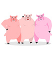 3 pigs Three piglets Funny farm animals Good vector image vector image