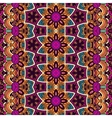 Abstract festive floral ethnic tribal pattern vector image vector image