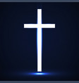 abstract glowing christian cross vector image