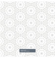 abstract gray pattern background with flower vector image vector image