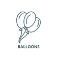 balloons line icon balloons outline sign vector image