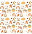 barainbow pattern batribal pattern cute vector image vector image
