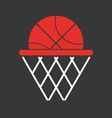 Basketball objects icon vector image