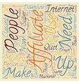 Become A Super Affiliate text background wordcloud vector image vector image
