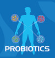 body of man with probiotics organisms vector image
