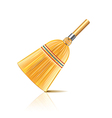 broom isolated vector image