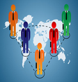 Business relationship global vector image