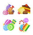 candy collection concept colored and juicy vector image vector image
