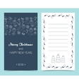 Christmas card on the front and inside Seamless vector image vector image