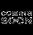 coming soon text in polygonal mesh style vector image vector image
