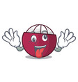 crazy fresh ripe mangosteen isolated on mascot vector image vector image